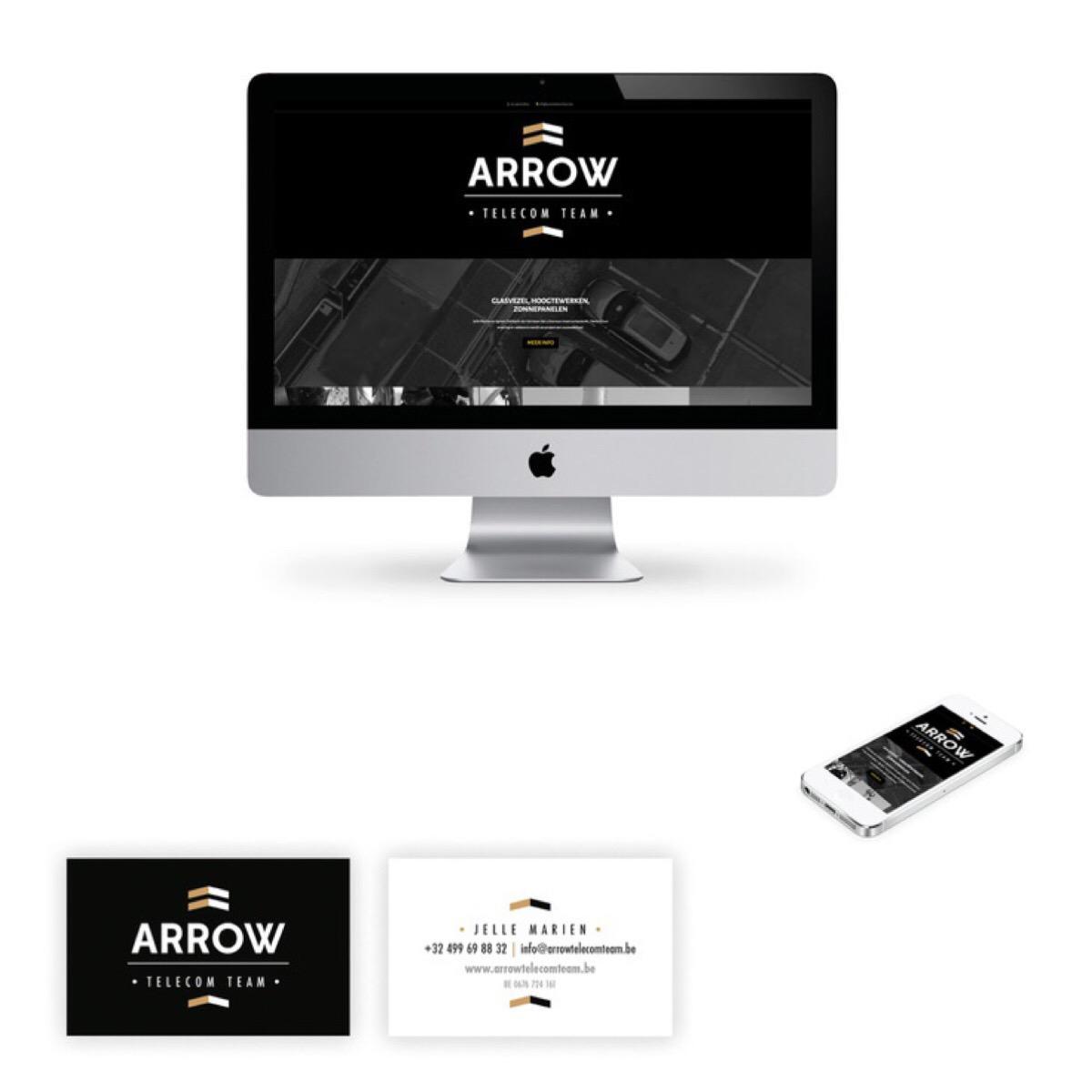 Print, online, logo, huisstijl, landingspagina: Arrow
