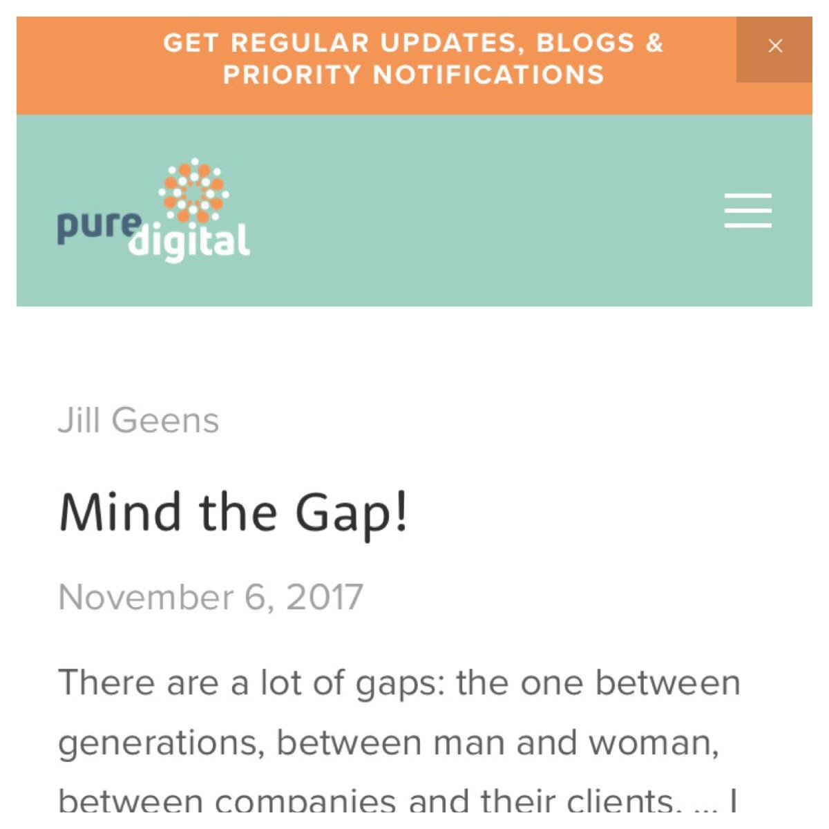 printscreen van artikel Mind the Gap