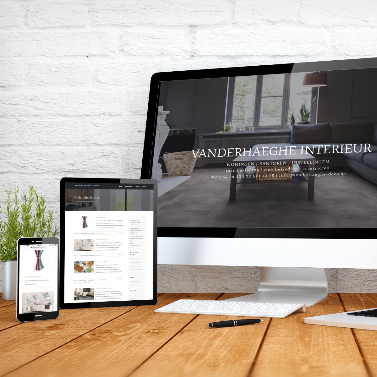 website Vanderhaeghe Interieur