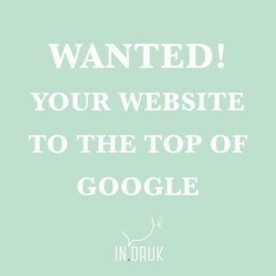 Website bovenaan Google