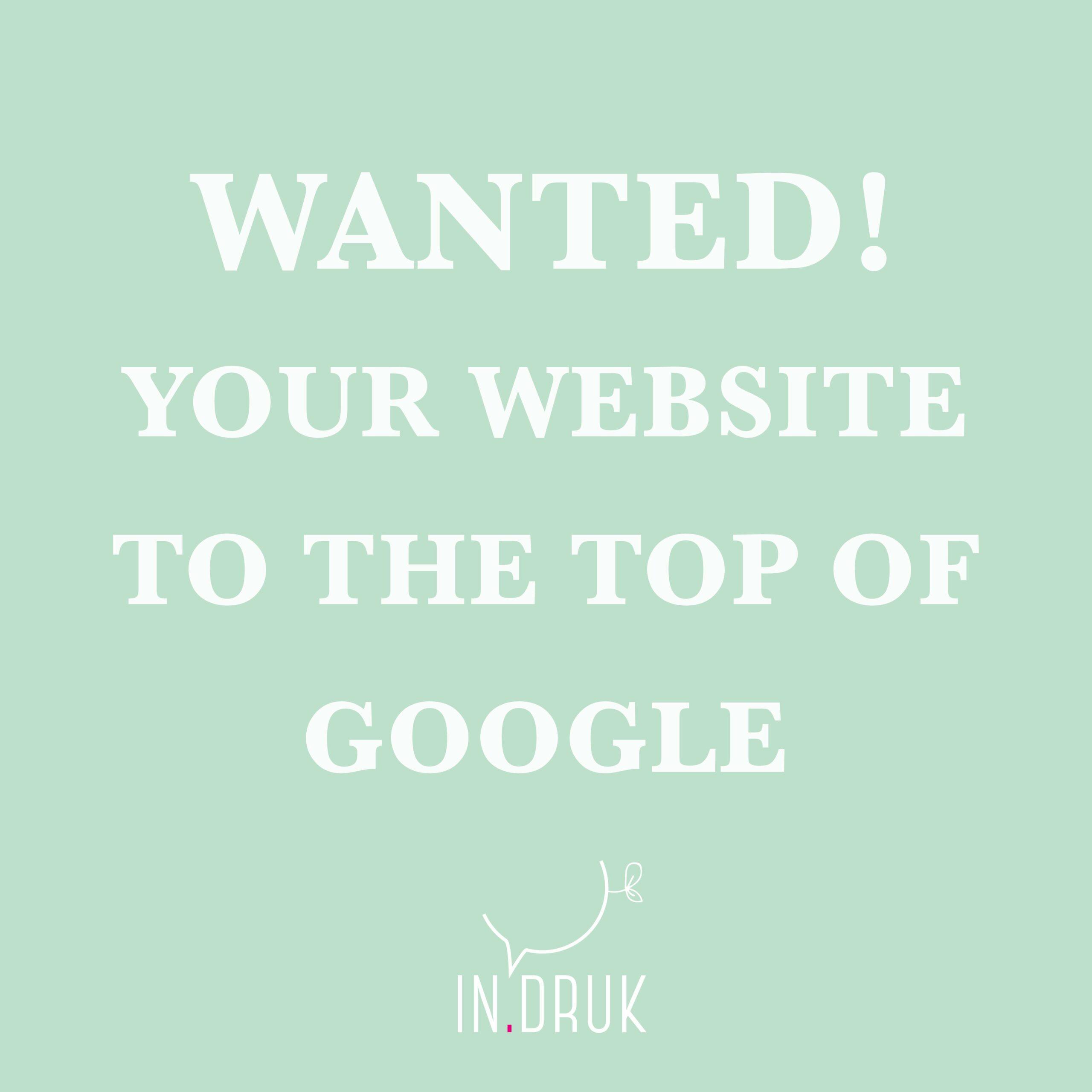 Website bovenaan Google