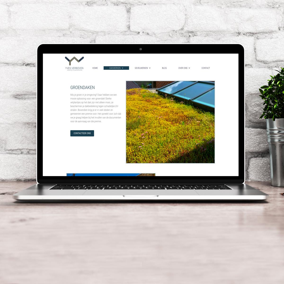 website Dakwerken Yves Verboven
